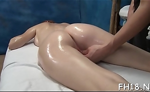 Charming all natural fucked by massage therapist