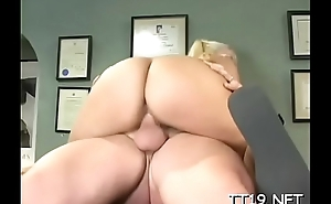 Sexy big ass schoolgirl gets her trimmed pussy fucked roughly