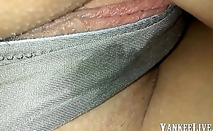 Wet pussy with dirty Pantie of my wife