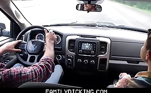 Twink Step Son And His Step Dad Fuck Outdoors While On Road Trip