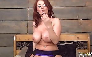 Buxom beauties vibe fucked and licked