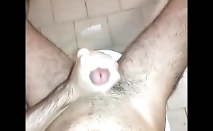 Jerk off till Cum on toilet seat