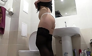 Golden shower here panties and a lot of urine, compilation of amateur video, cutie with juicy ass and pink pussy pissing.