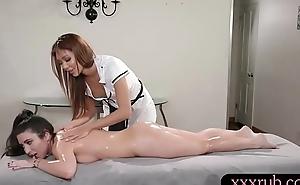 Russian masseuse 69ing with her client