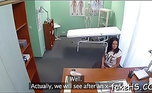 Sexy doctor is about to endure the long-awaited pussy-ramming