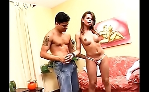 Brazilian Tranny does bareback, eats ass, and A2M