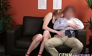 Cfnm amateur gives head