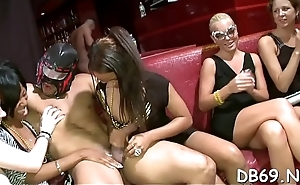 Cock hungry college beauties getting their ever need fulfilled by the dancing bear crew