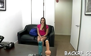 Fancy model with fantastic body drilled at the interview