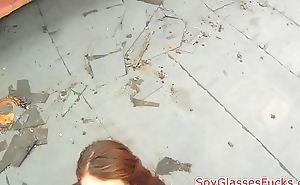 Real eurobabe sucks cock on spycam