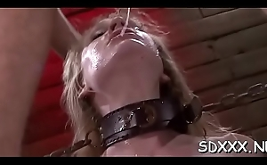 Curvy playgirl experiences ache in hot bdsm sex session