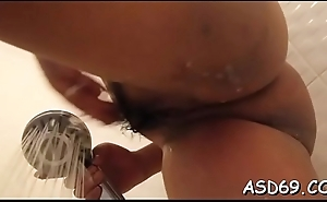 Oriental bitch enjoys taking a ride on cock after engulfing colour up rinse