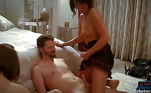 Swinger couples try all kinds of sex toys on each other