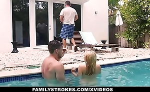 FamilyStrokes - Cute Teen Blonde Teases Cousin &amp_ Uncle