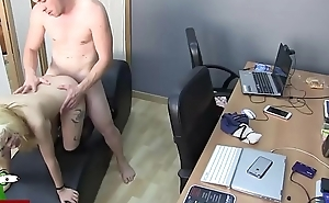 Fucked session with different postures in the office CRI076