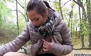 Cutie Chech Amateur Teen Fucks For Cash In Public By Stiff Dick 14
