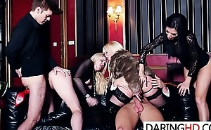 Group orgy with three hot babes