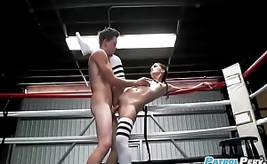 Pervert Fucks Gia Paige - Boxing Brunette Fucks In The Ring