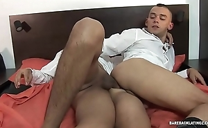 Latinos Alejo and Javi Fuck Bareback
