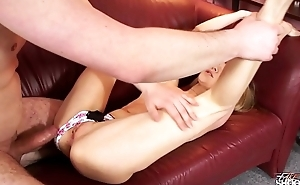 Fakeshooting Russian extremely horny skinny slut fuck agents brain out of head