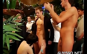 Astonishing gay orgy as horny dudes get screwed by ripped studs