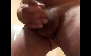 Erect hairy cock shooting ball juice